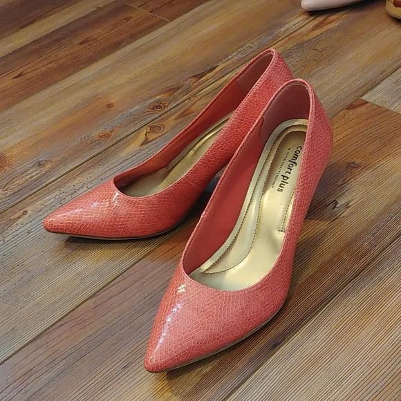 Comfort Plus pink/salmon pumps